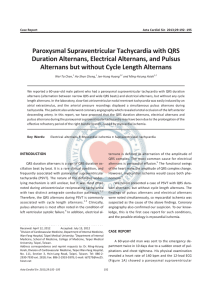 Paroxysmal Supraventricular Tachycardia with QRS Duration