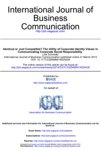 Communication Business International Journal of