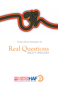Real Questions - Hindu American Foundation