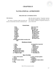 chapter 15 navigational astronomy
