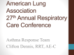American Lung Association 27th Annual Respiratory care conference