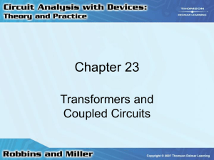 Chapter 24: Transformers and Coupled Circuits