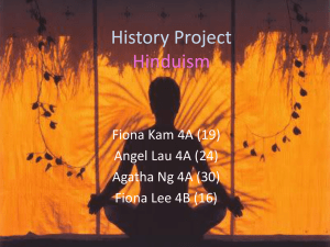 History Project Hinduism
