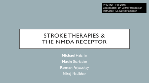 NMDA and stroke