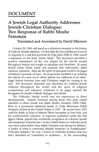 Two Responsa of Rabbi Moshe Feinstein