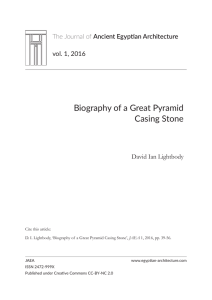 Biography of a Great Pyramid Casing Stone