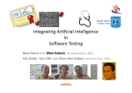 Integrating Artificial Intelligence in Software Testing