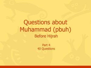 Questions, Muhammad, Part #4