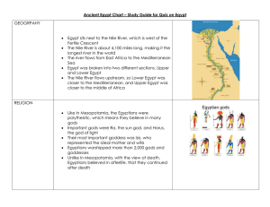 Ancient Egypt Chart – Study Guide for Quiz on Egypt GEOGRPAHY