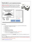 Excel Lab 3 … Dice Probability Simulation