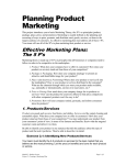 Planning Product Marketing
