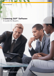 Licensing SAP Software - A Guide for Buyers