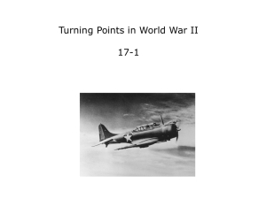 Turning Points in World War II