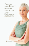 PATIENT AND FAMILy SUPPORT PROGRAMS AND CALENDAR