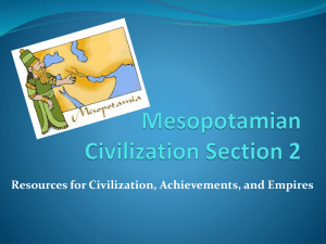 Mesopotamian Civilization Section 2