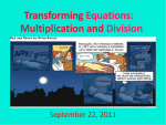 Transforming Equations: Multiplication and Division