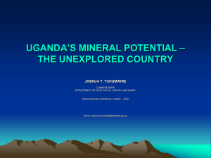 uganda - the potential source for minerals