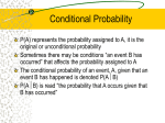 Conditional Probability - University of Arizona Math