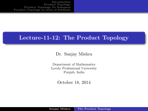 The Product Topology