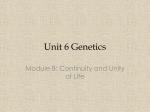 Unit 6 Genetics - centralmountainbiology