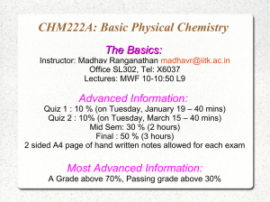 CHM222A: Basic Physical Chemistry