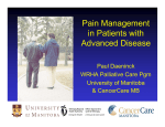 Pain Management in Patients with Advanced Disease