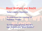 Blood Brothers and Brecht