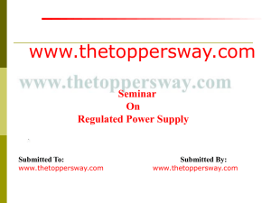 Regulated Power Supply [ppt]