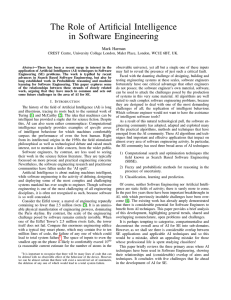 The Role of Artificial Intelligence in Software Engineering