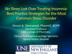 No Sleep Lost Over Treating Insomnia