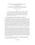 Quantization of the Free Electromagnetic Field: Photons and