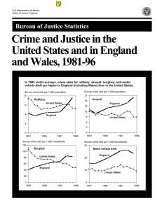 Crime and Justice in the United States and in England and Wales