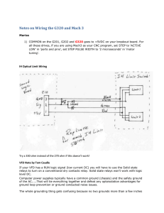 Notes on Wiring the G320 and Mach 3
