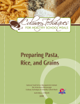 Preparing Pasta, Rice, and Grains