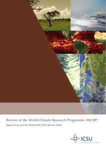 Review of the World Climate Research Programme (WCRP)