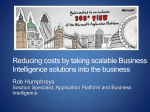 Reducing costs by taking scalable Business Intelligence