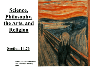 Science, Philosophy, the Arts, and Religion