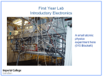 First Year Lab Introductory Electronics