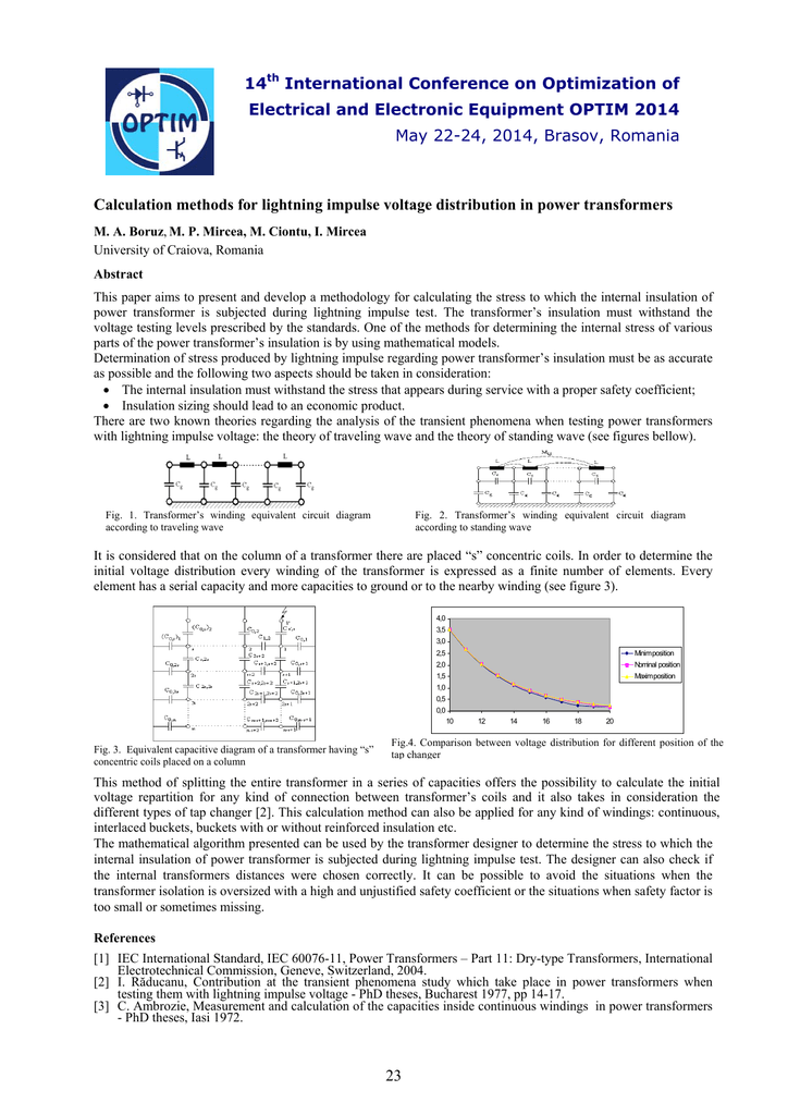 Calculation methods for lightning impulse voltage