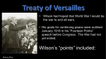 treaty of versailles peace