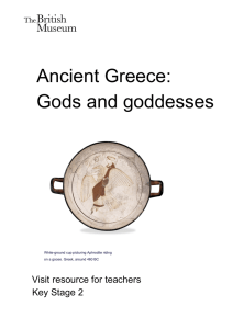 Ancient Greece: Gods and goddesses