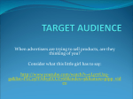 Target Audience Powerpoint