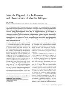 Molecular Diagnostics for the Detection and Characterization of