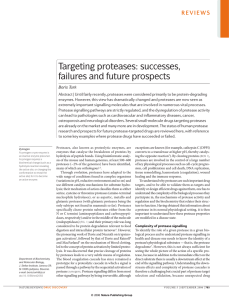 Targeting proteases: successes, failures and future prospects