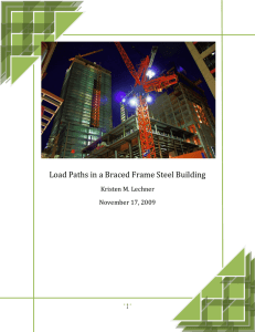 Load Paths in a Braced Frame Steel Building