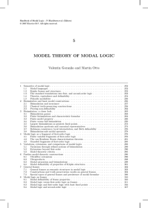 Model Theory of Modal Logic, Chapter in: Handbook of Modal Logic