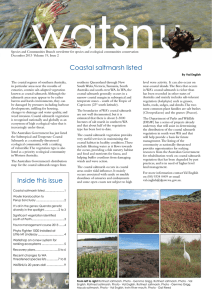 Coastal saltmarsh listed Inside this issue