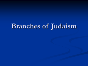 Branches of Judaism