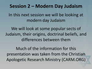 Session 2 – Modern Day Judaism
