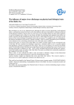 The influence of major rivers discharges on physical and biological